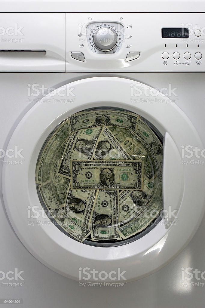 money laundry stock photo