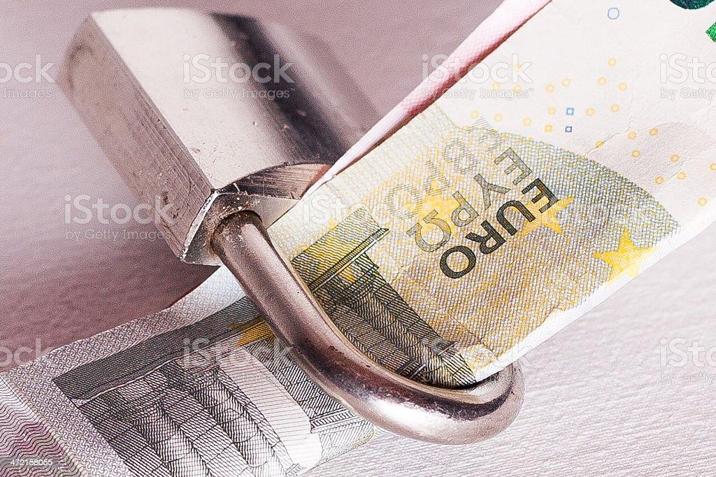 Money lock stock photo