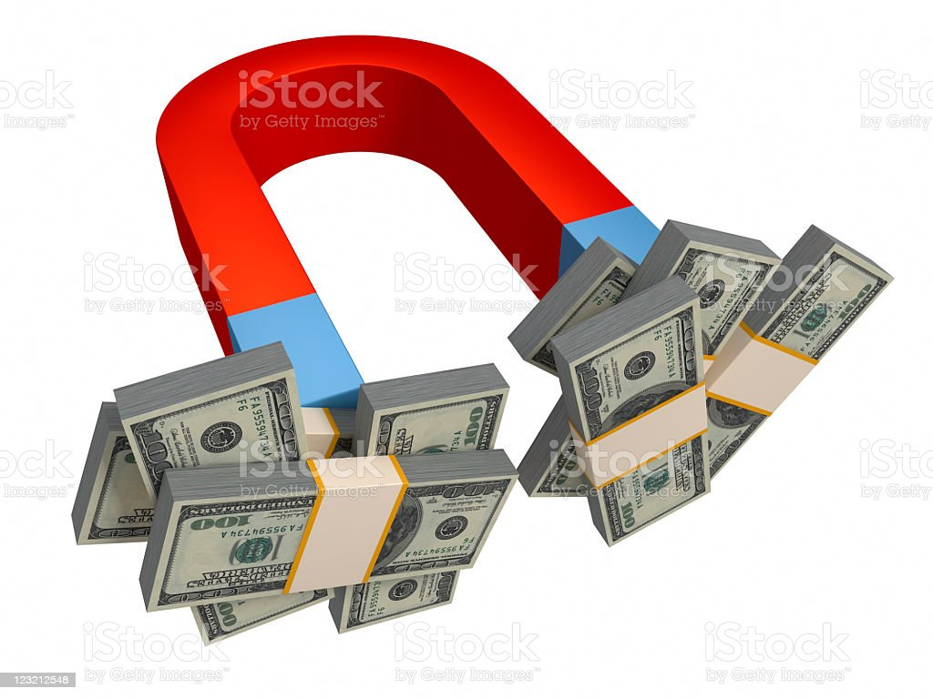 Money magnet. royalty-free stock photo
