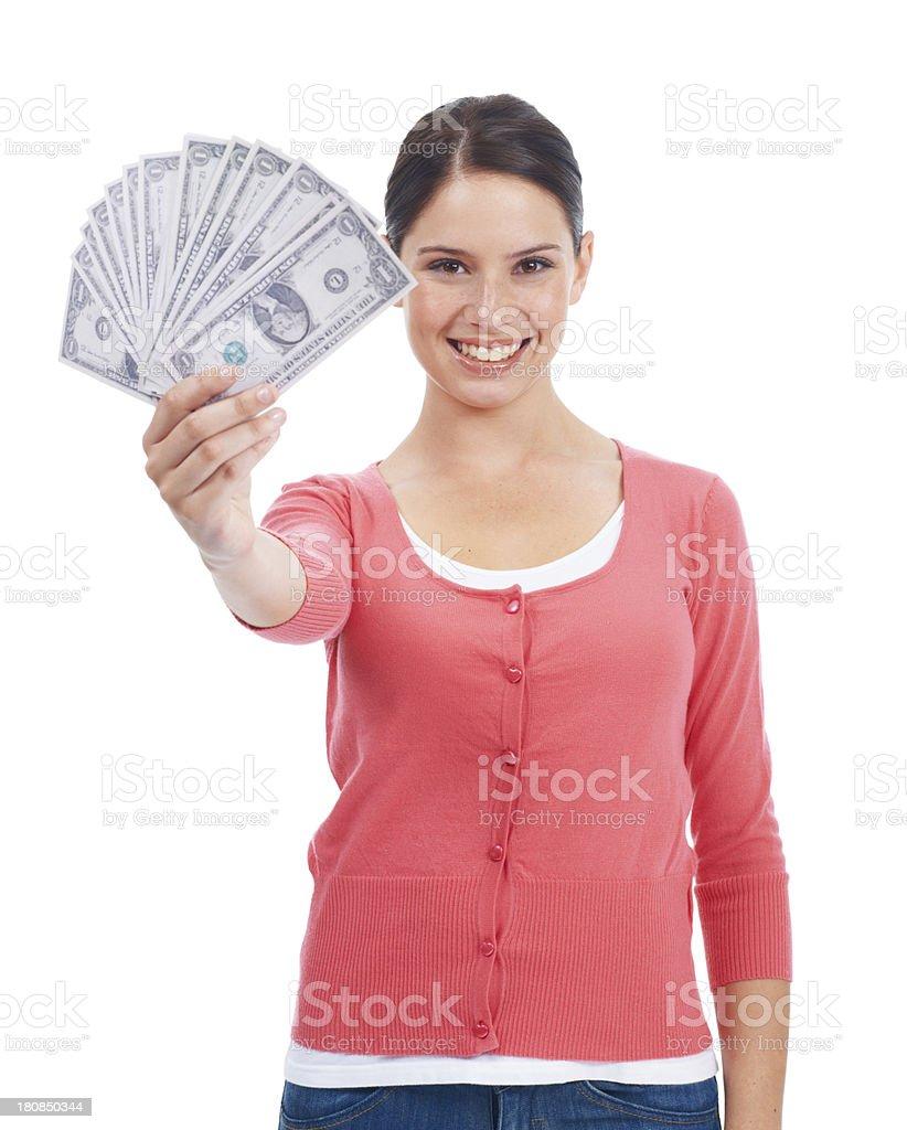 Money makes the world go round royalty-free stock photo