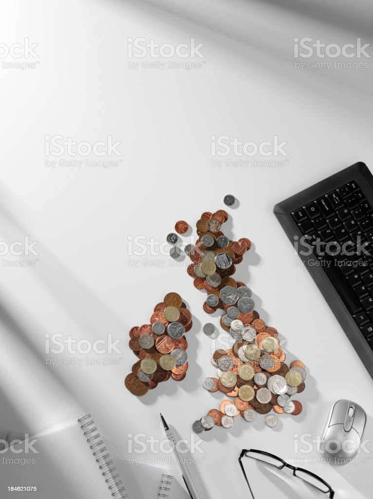 Money Map in the Office royalty-free stock photo