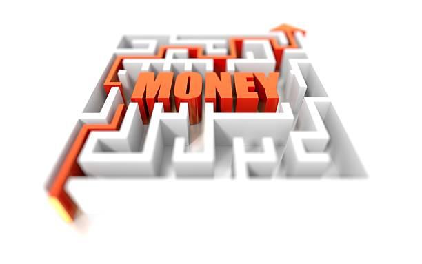 Money Maze stock photo
