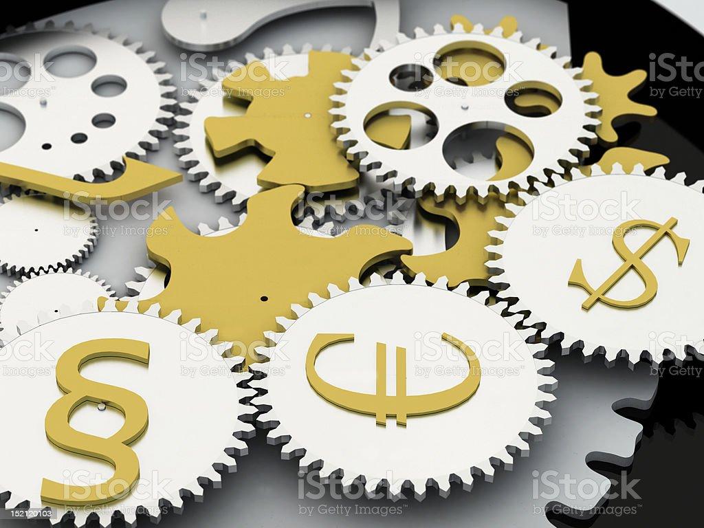 money mechanism stock photo