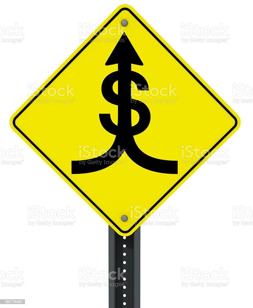 Money Merge royalty-free stock photo