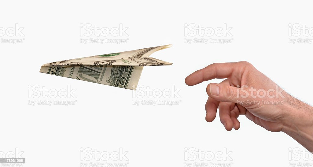 Money message. stock photo