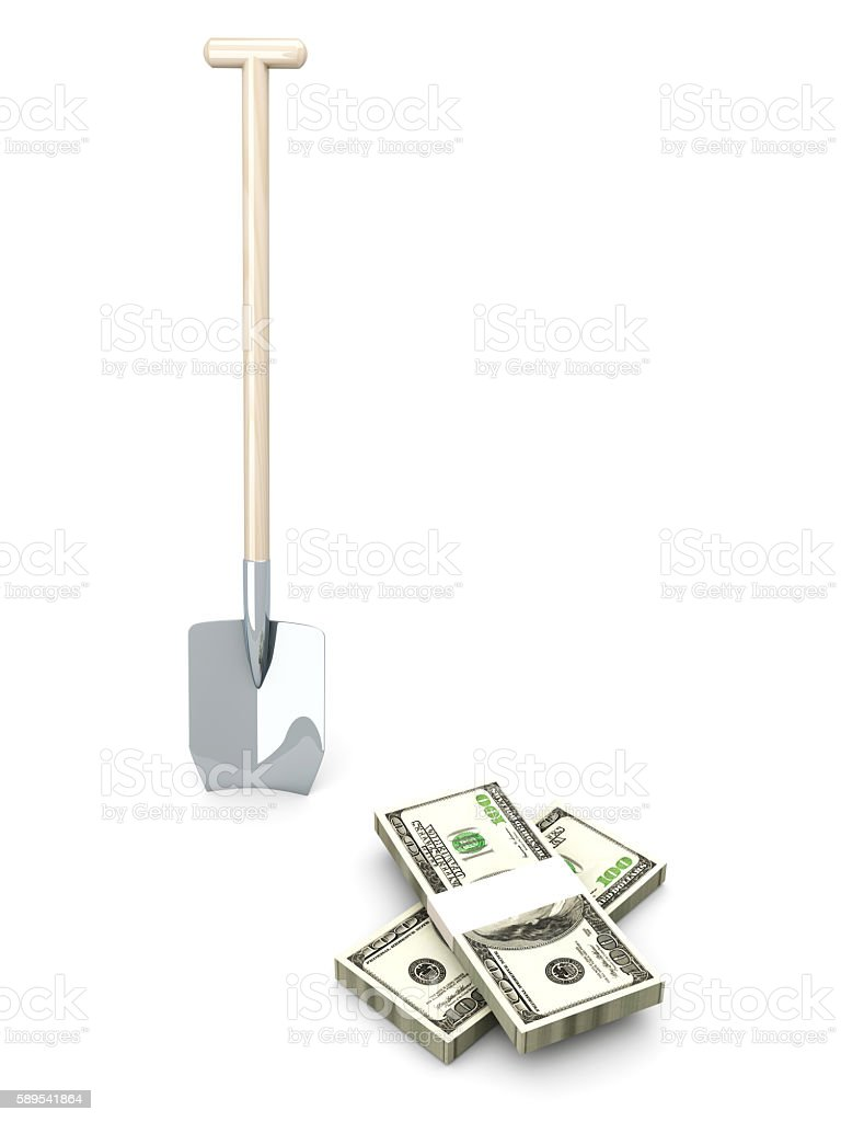 Money Mining stock photo