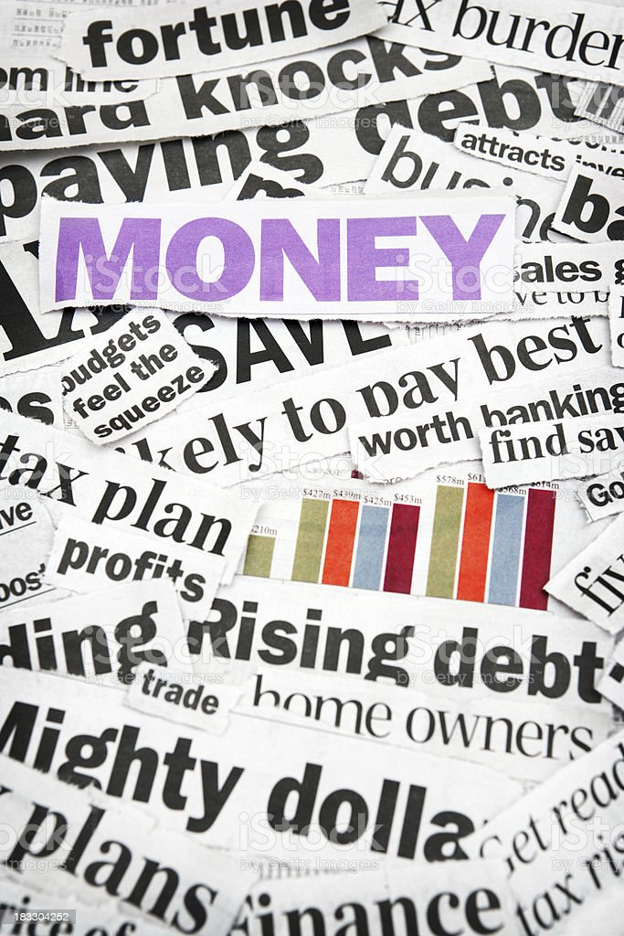 Money News royalty-free stock photo