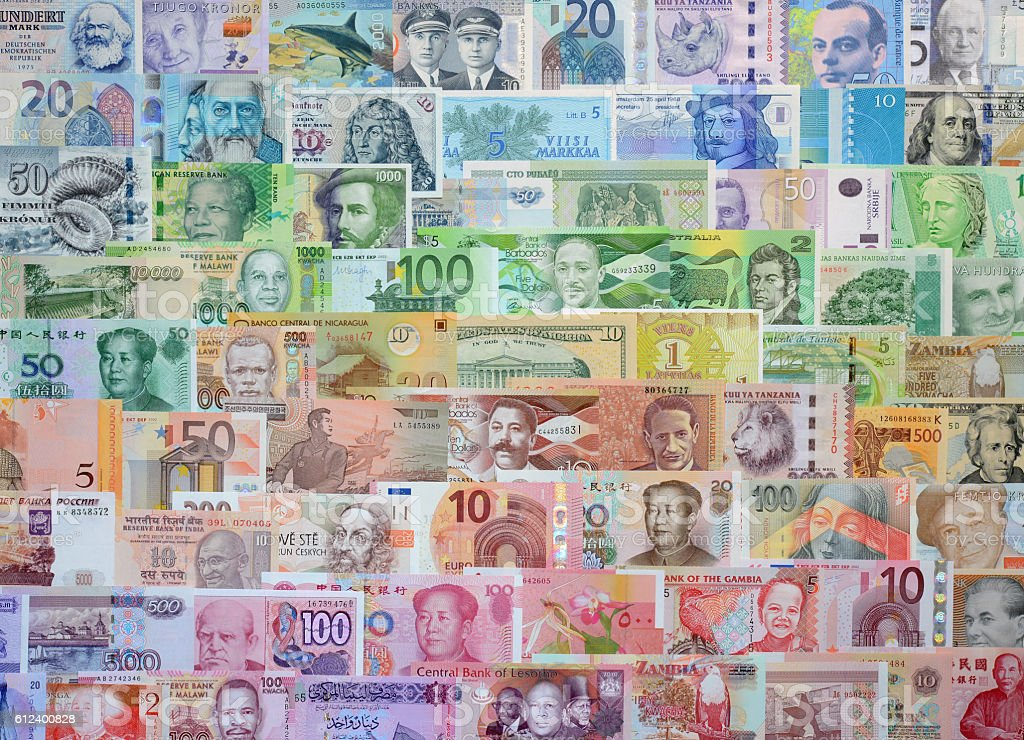 Money of the different countries. stock photo