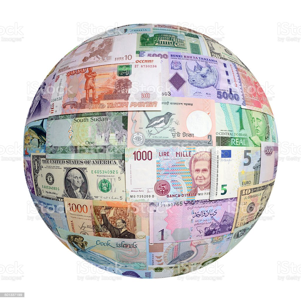 Money of the different. stock photo