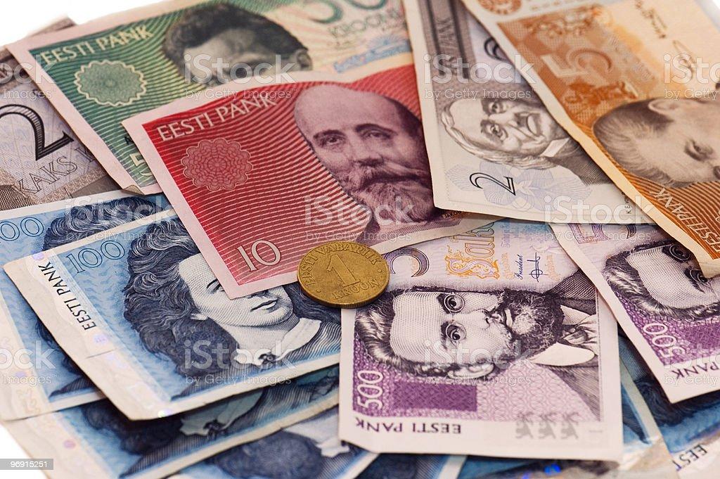 Money of the Estonian republic royalty-free stock photo