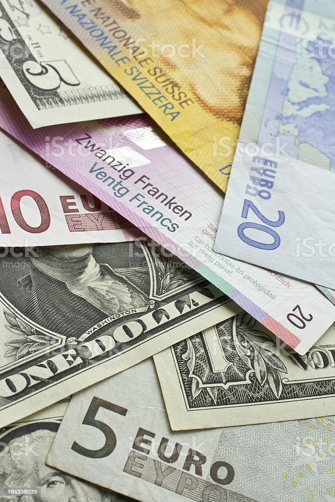 Money of the world royalty-free stock photo