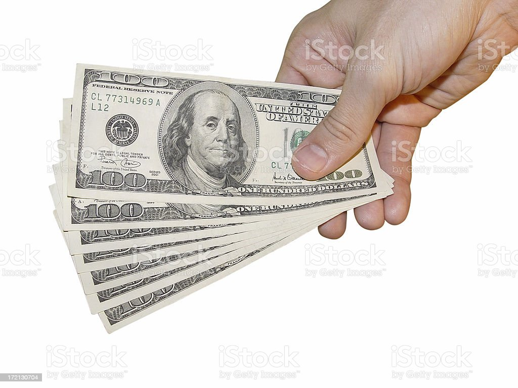 Money offer stock photo