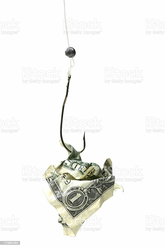 Money on a Hook royalty-free stock photo