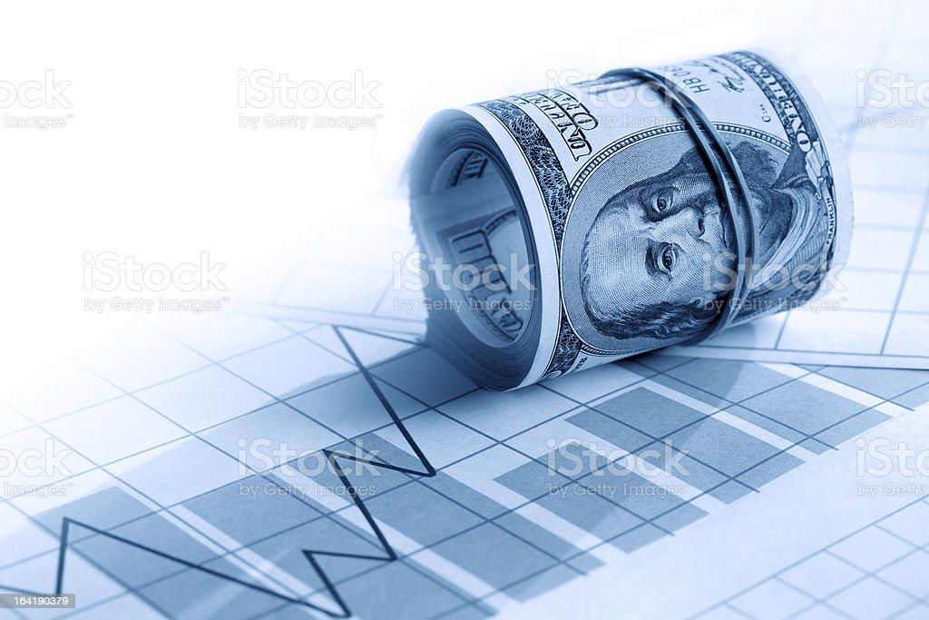 Money On Chart royalty-free stock photo