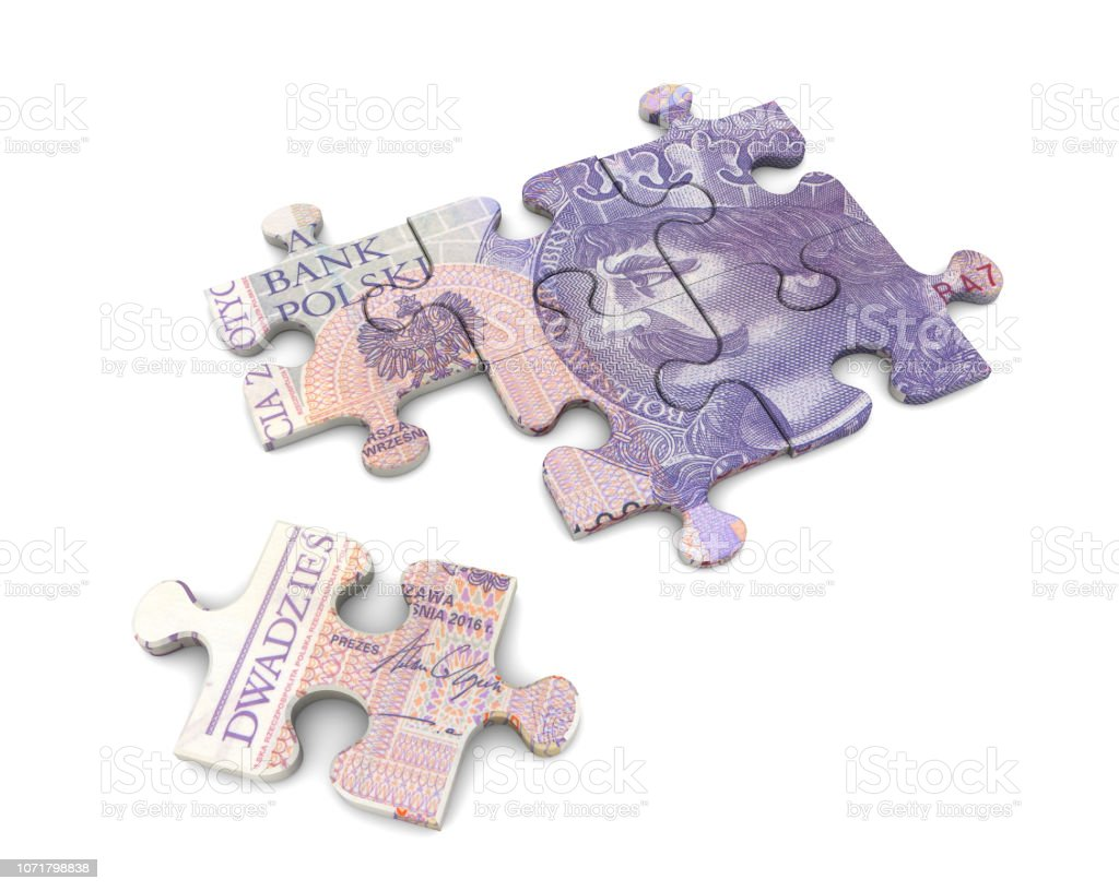 Money on puzzle stock photo
