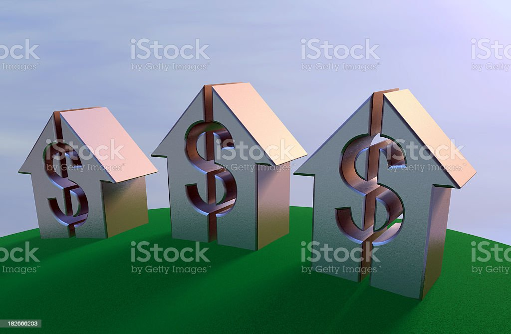 Money on the rise stock photo
