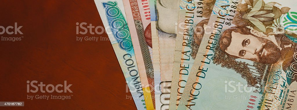 Money on the table stock photo