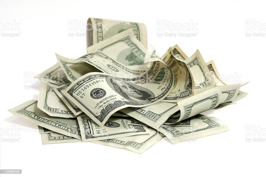 Money on white stock photo