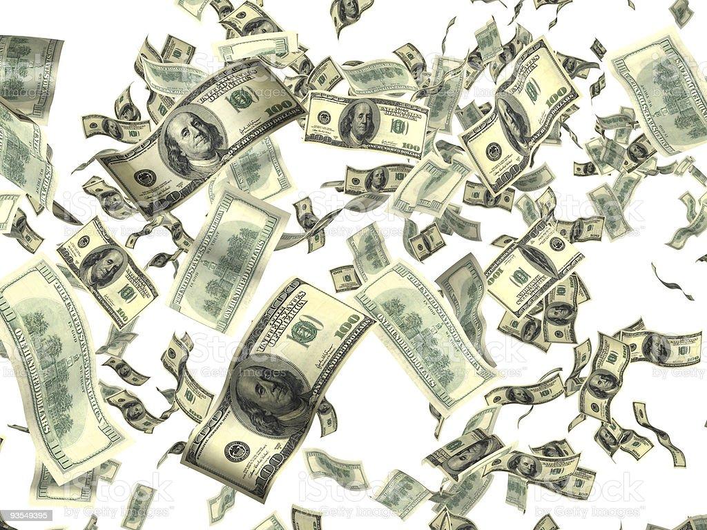 Money on white royalty-free stock photo