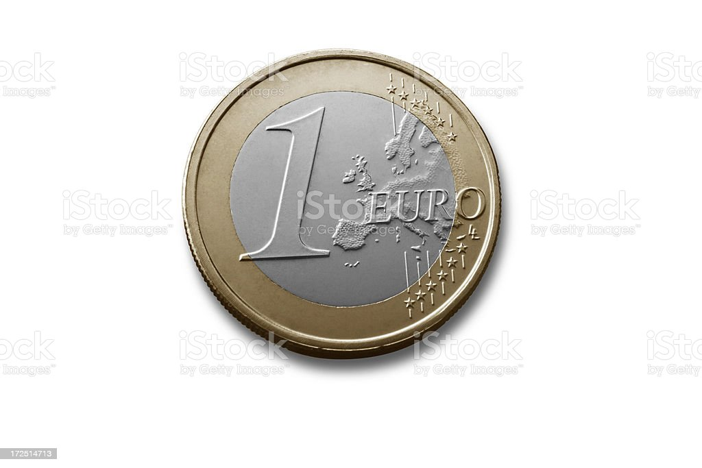 Money: One Euro Coin royalty-free stock photo