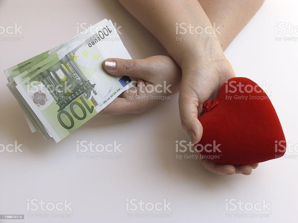 Money or Love stock photo