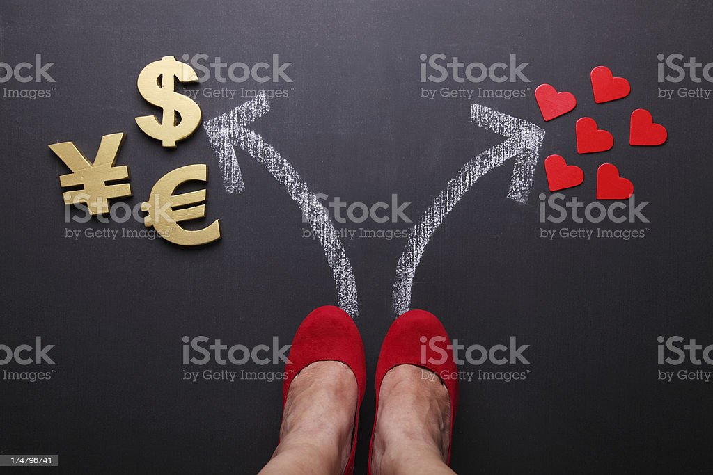 Money or Love royalty-free stock photo