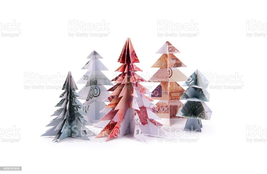 Easy money origami Christmas tree making instructions 🎄 - YouTube | 670x1024