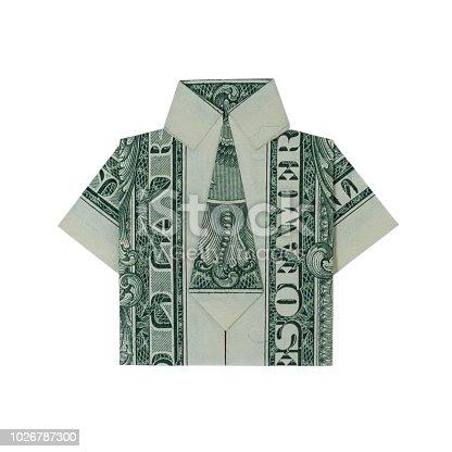 Dollar origami dress isolated on white background Stock Photo - Alamy   416x416