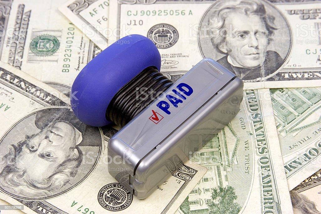 Money Paid royalty-free stock photo