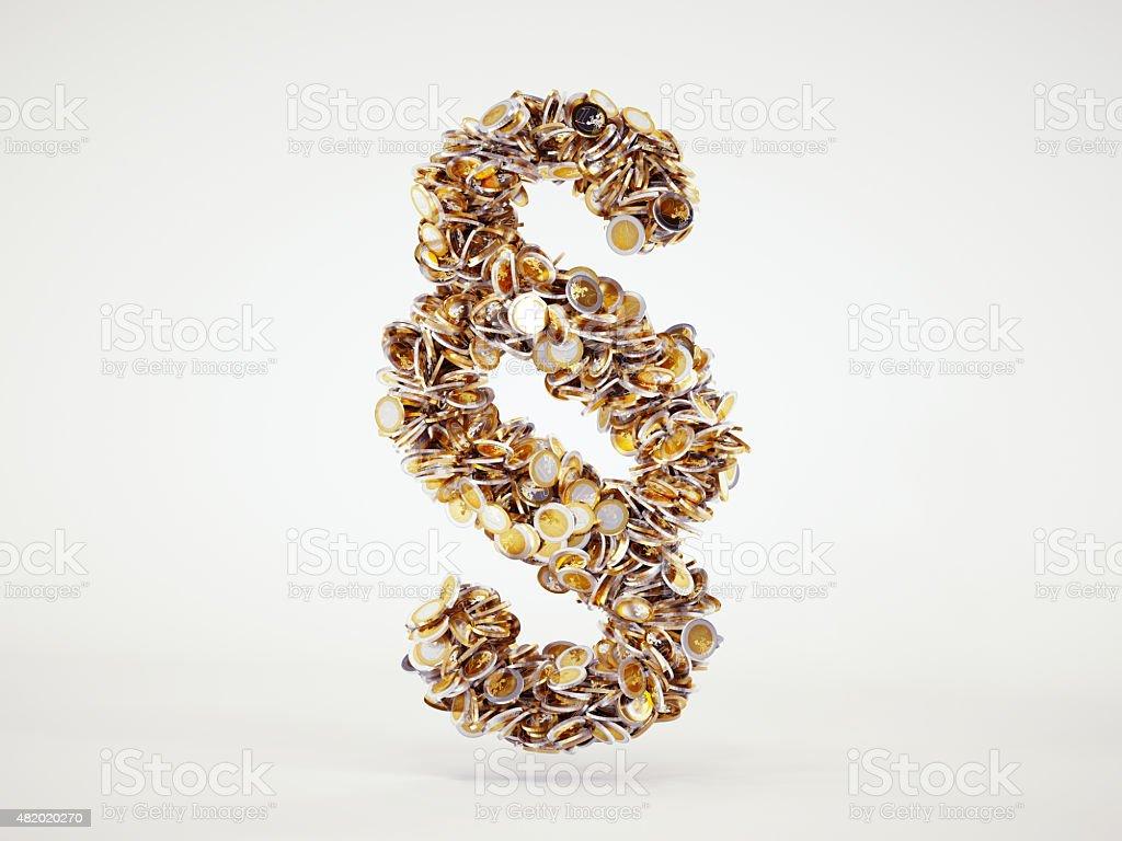 Geld Ziffer Schild – Foto