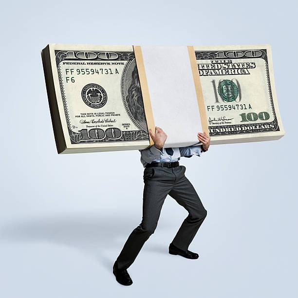 il denaro - bonus foto e immagini stock