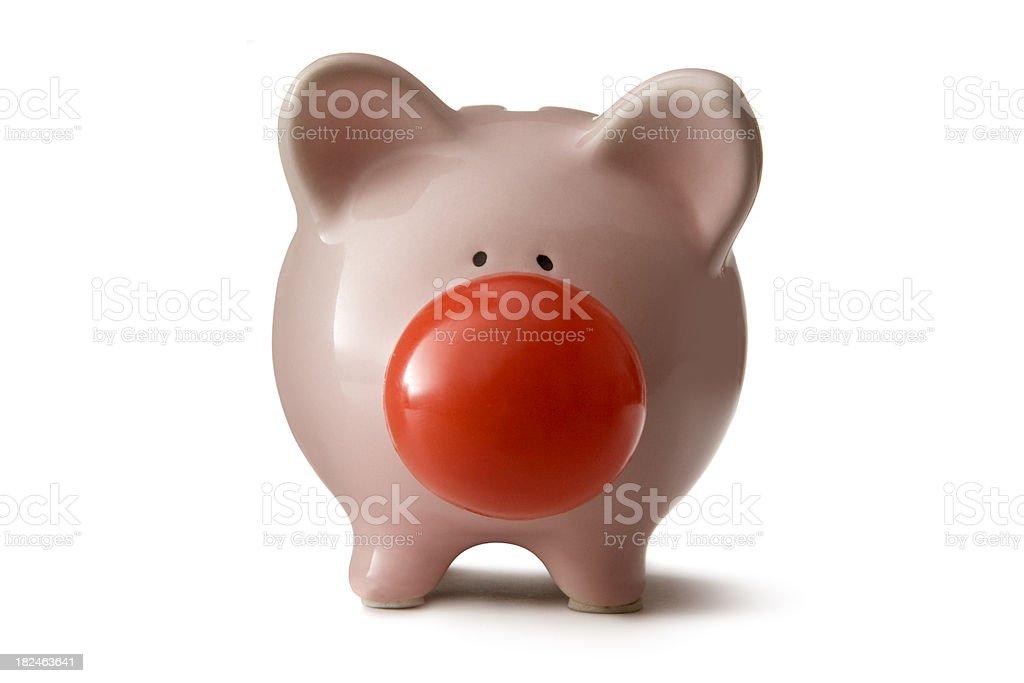 Money: Piggy Bank Clown stock photo