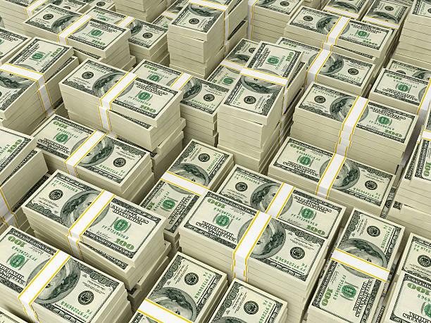 stos pieniędzy 100-dolarowe - duża grupa obiektów zdjęcia i obrazy z banku zdjęć