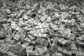 istock Money Pile Bundles of $100 USD Notes 492595743