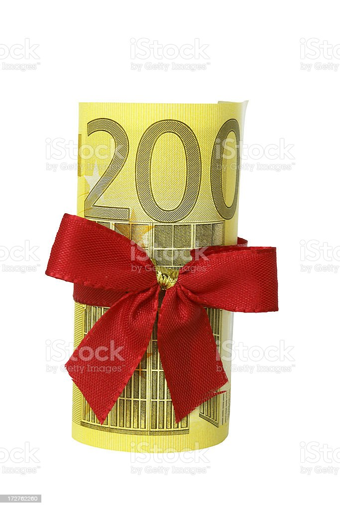 Money Present (+ path) royalty-free stock photo