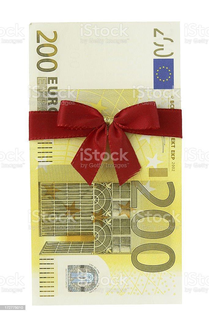 Dinero presente - foto de stock