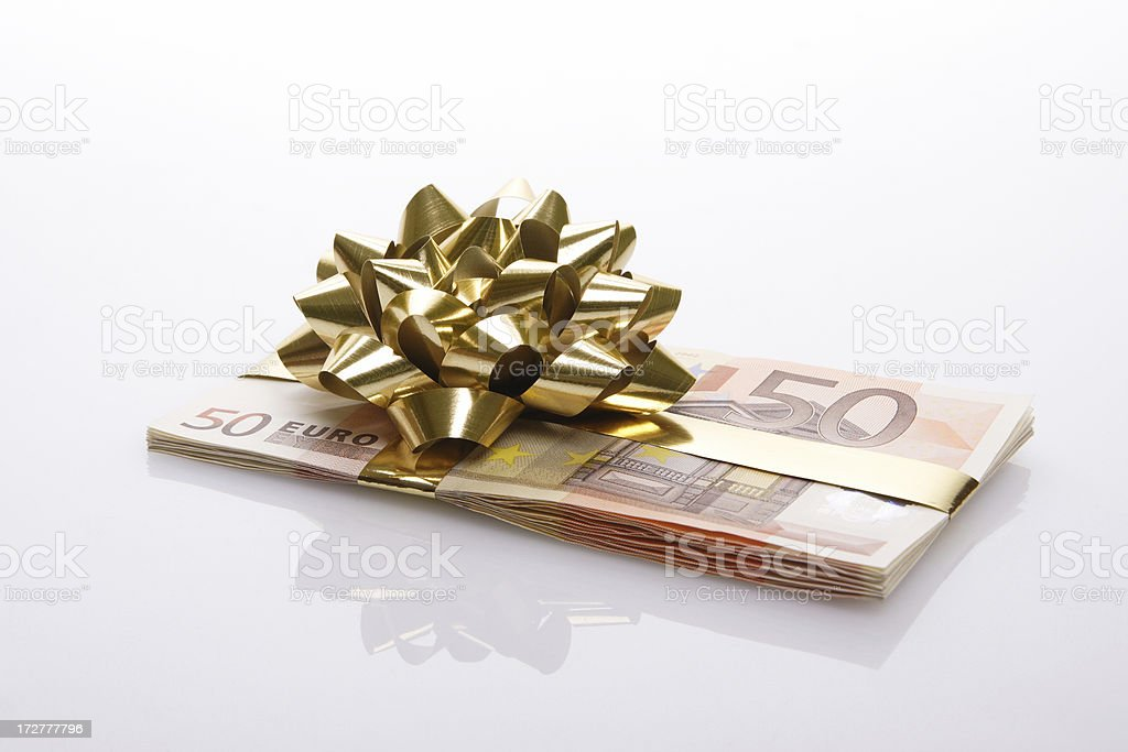 Money present royalty-free stock photo