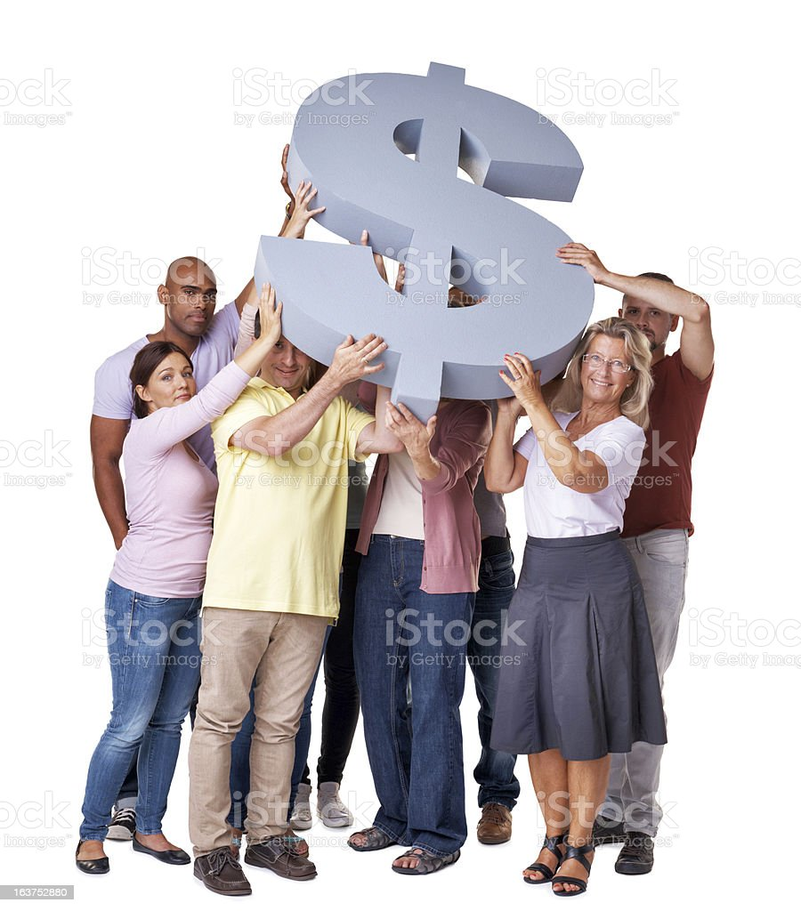 Money problems holding you down? royalty-free stock photo