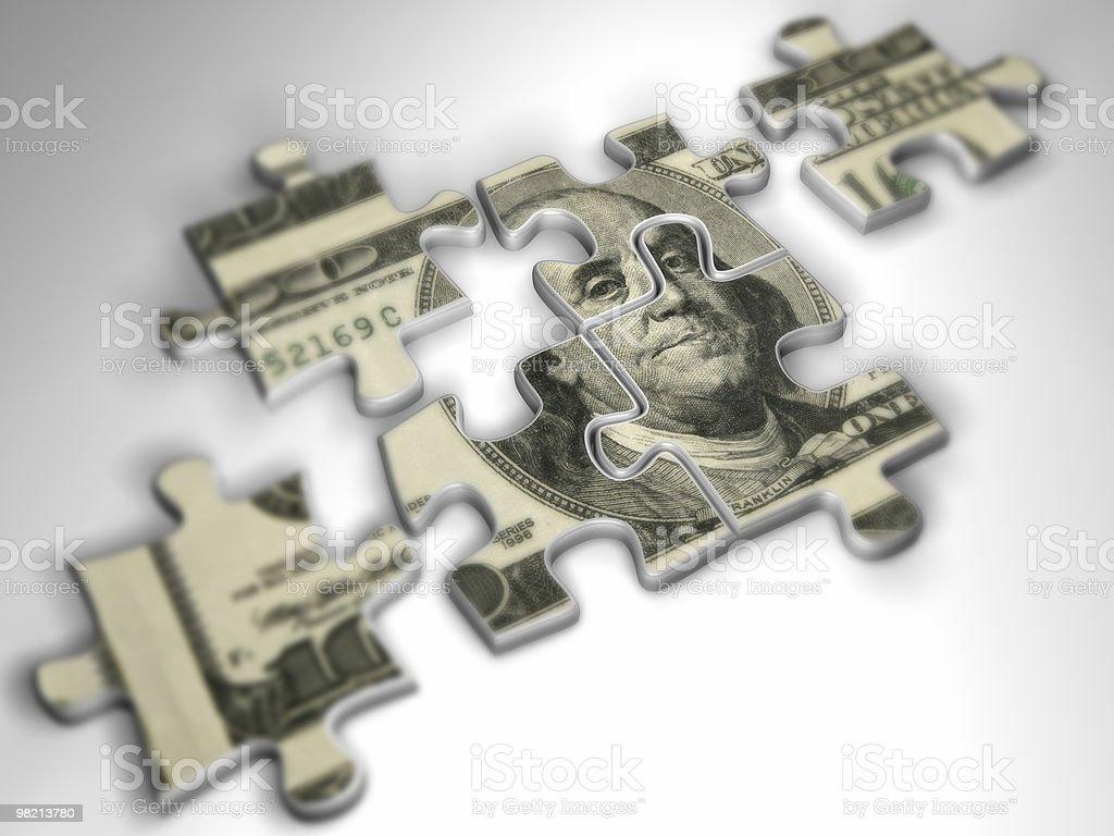Denaro Puzzle foto stock royalty-free