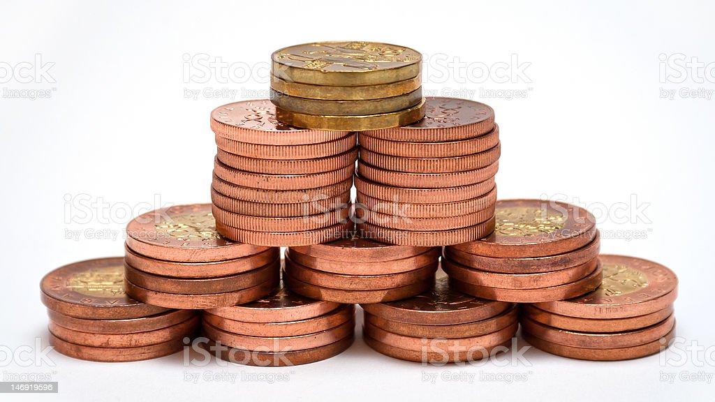 Money Pyramid royalty-free stock photo