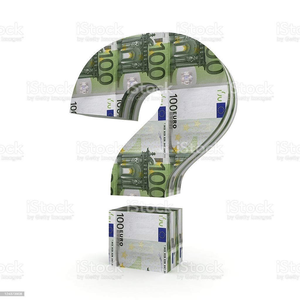 Money Question - Euro royalty-free stock photo