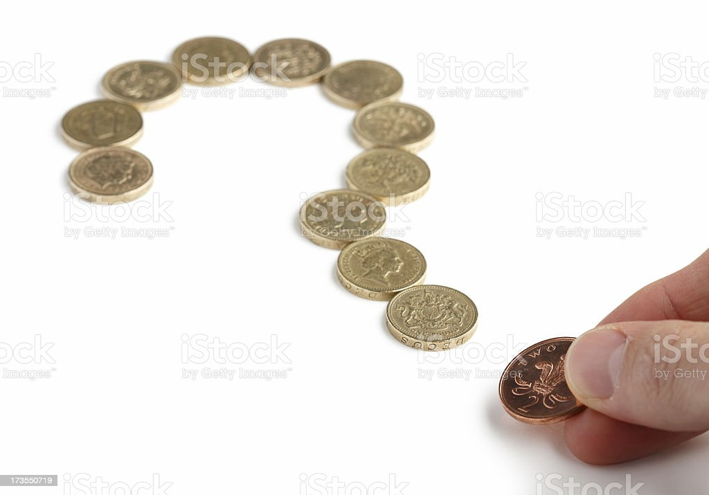 Money question royalty-free stock photo