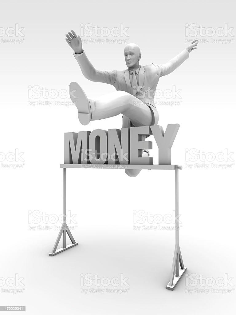 Money Race stock photo