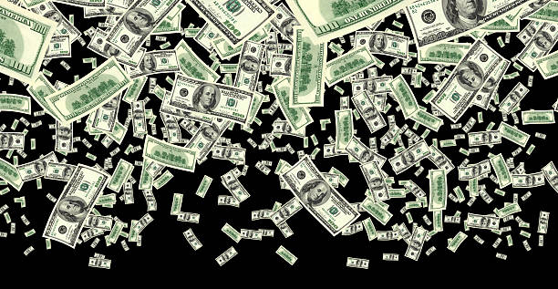 money rain on black - money black background stock photos and pictures