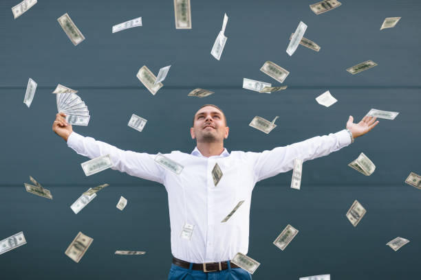 money rain - throw money away stock pictures, royalty-free photos & images