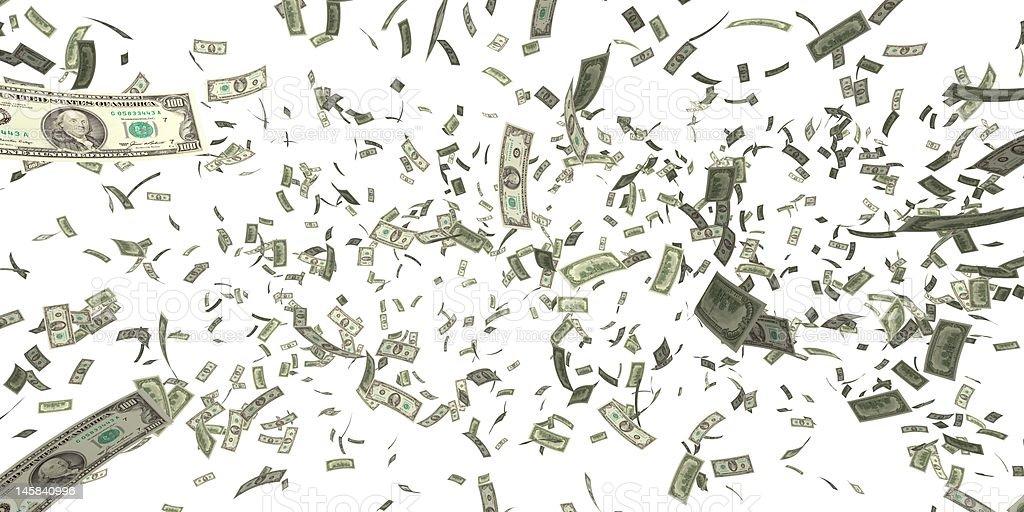 Money rain. royalty-free stock photo