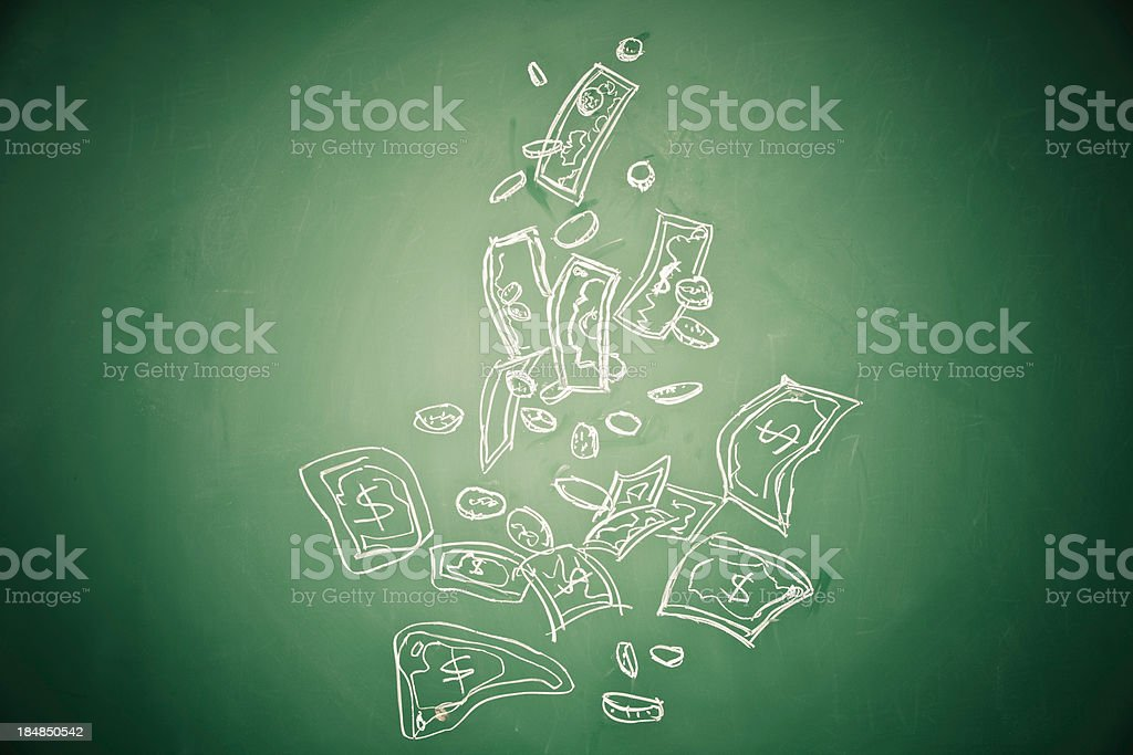 money rain royalty-free stock photo
