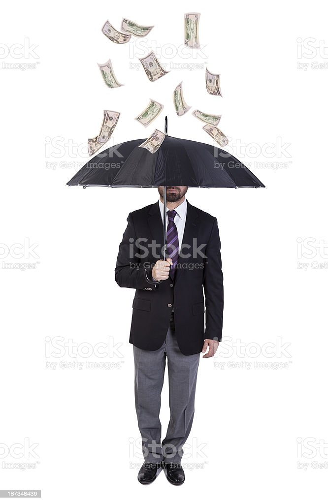 Money Rain stock photo
