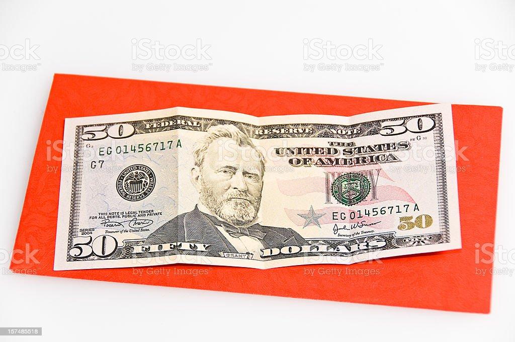 Money Red Envelope stock photo