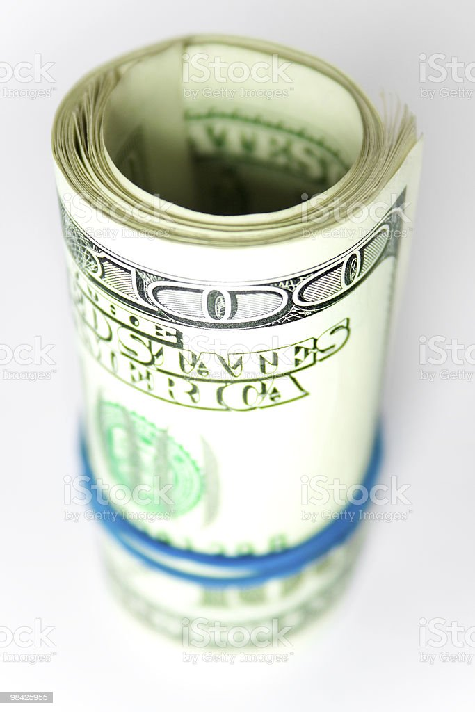money roll royalty-free stock photo